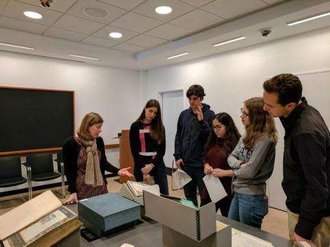 DS at the Beinecke Rare Book and Manuscript Library, December 2017